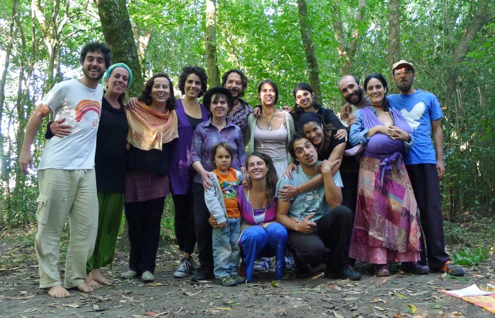 Participantes del curso de transición Interior realizado en la comunidad La Tierrita en Uruguay. Foto: Juan del Río