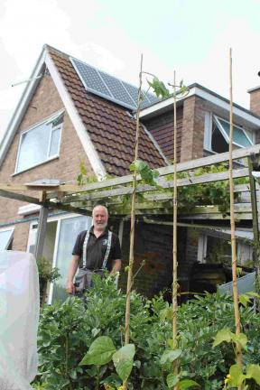 Malcolm Drew at his South Lawns home: Photo: Bridport News