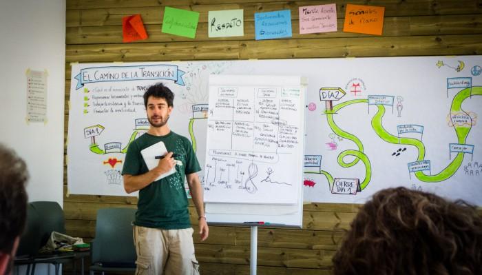 Juan delivering Transition Training.