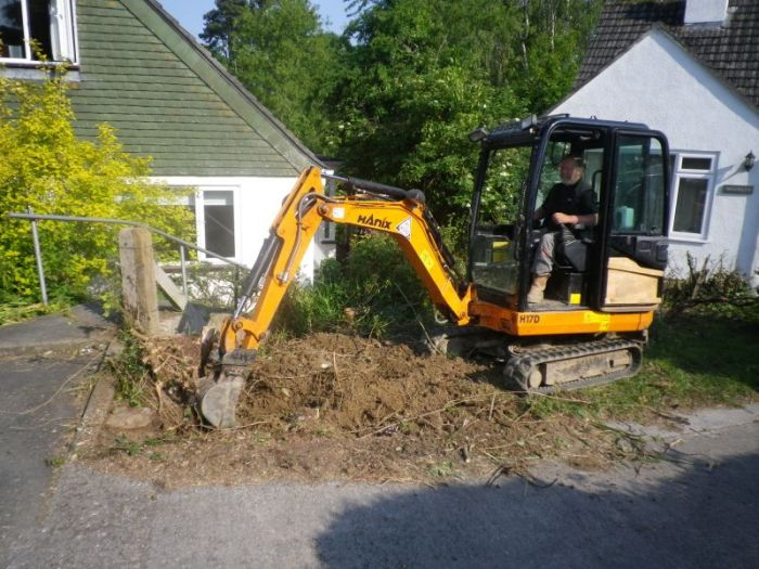 Digger in action