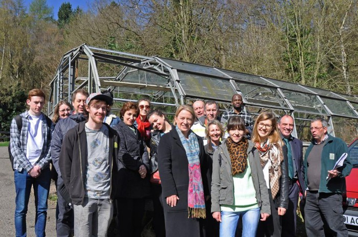 Recent visit by Natalie Bennett.  The University start work this week to repair the greenhouses.