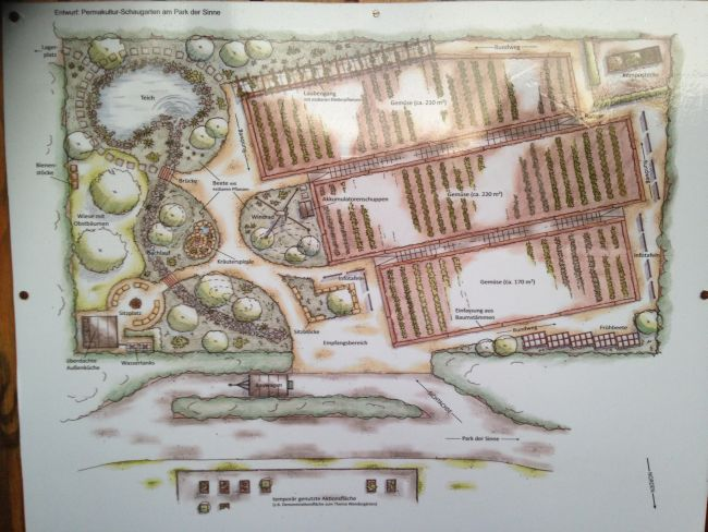 Map of the Participatory Garden.