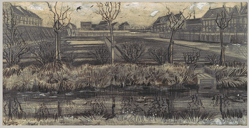 An early drawing of Van Gogh's from his time in Holland.