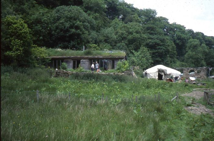 The Middlewood Study Centre, with the yurt we studied in to the right.