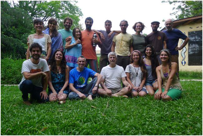 Participantes del curso de transición realizado en el espacio Ayni de Buenos Aires. Foto: Juan del Río