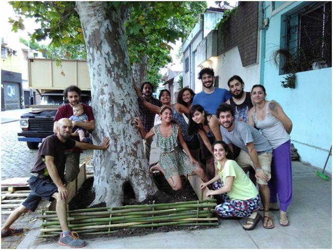 Participantes del curso de permacultura urbana realizado en Buenos Aires: Foto: Juan del Río
