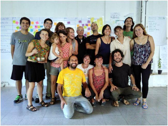 Participantes del curso de transición realizado en Luján, Mendoza. Foto: Juan del Río