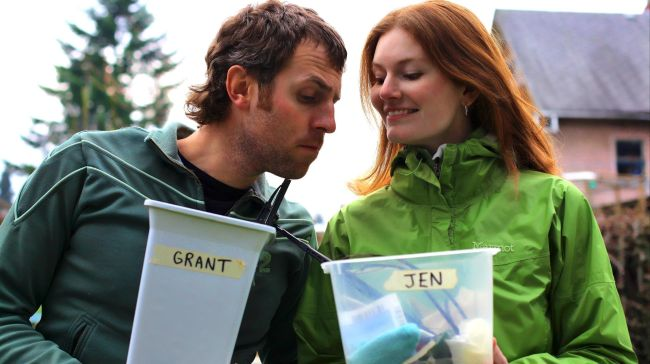 Jen and Grant: they're just a tad competitive ...