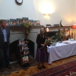 Julia Ponsonby speaking at the launch of 'Gaia's Kitchen'.