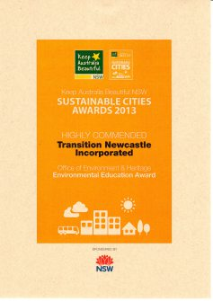 Transition Newcastle's award