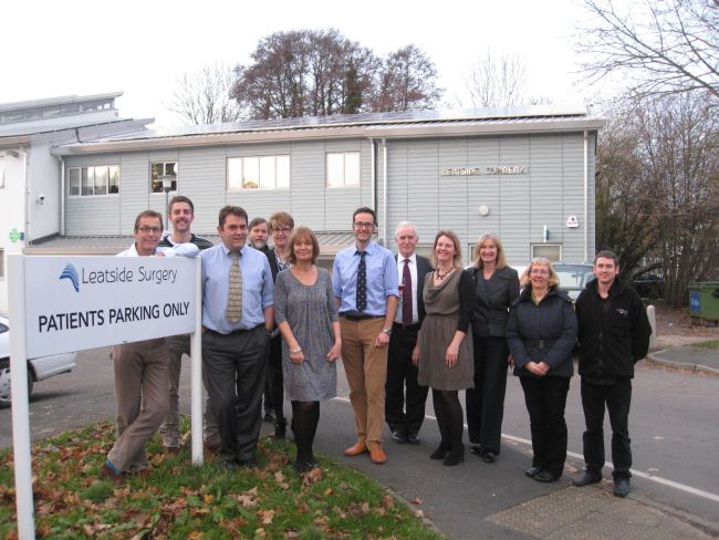 Totnes Renewable Energy Society recently installed a solar roof on the town's Leatside Surgery.