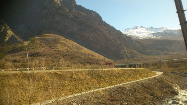 Travelling through the Alps
