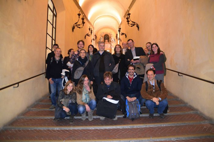 With various members of Italian Transition groups, on the ancient stairs built for horse traffic.