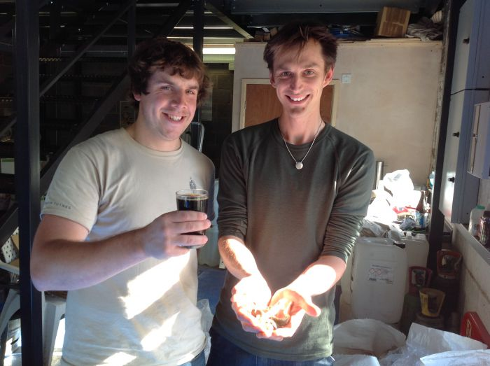 New Lion Brewery's Head Brewer Mat Henney and Fungi Futures' Adam Sayner.