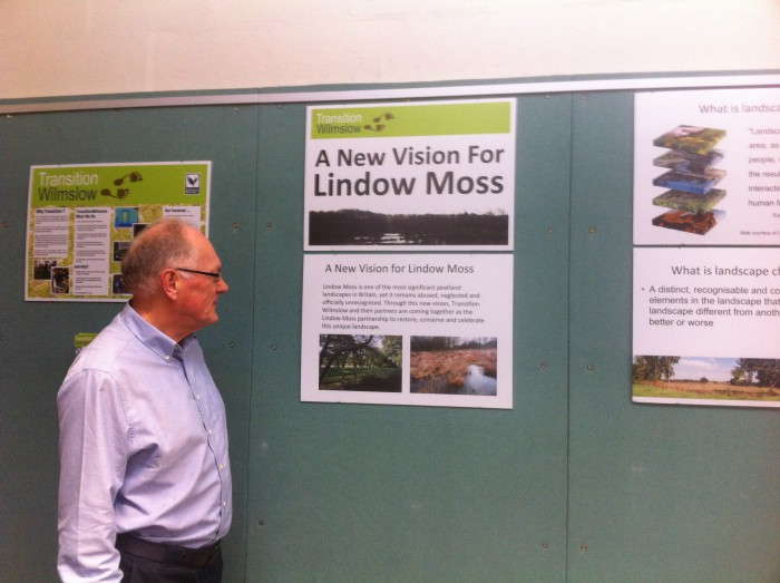 John at the New Vision for Lindow Moss exhibition.