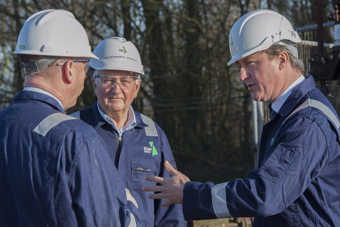 David Cameron visiting fracking sites in Gainsborough to launch his new push for fracking.