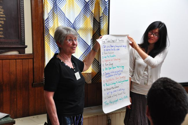 r3 Razia Ross (left) and Michelle Yang (right) from Transition Town Boroondara. Credit; Peter Campbell