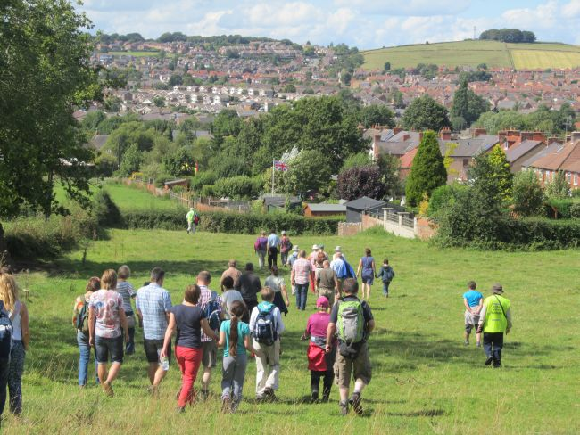 A walk led by the Ramblers Association over the proposed development land.