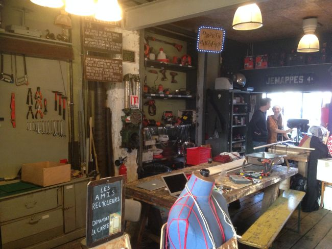 The Repair Cafe and Tool Library.