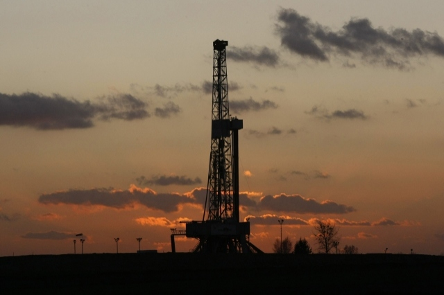 Gas fracking rig