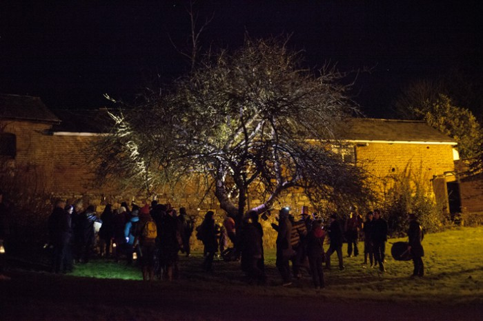 Wassailing in Exeter.