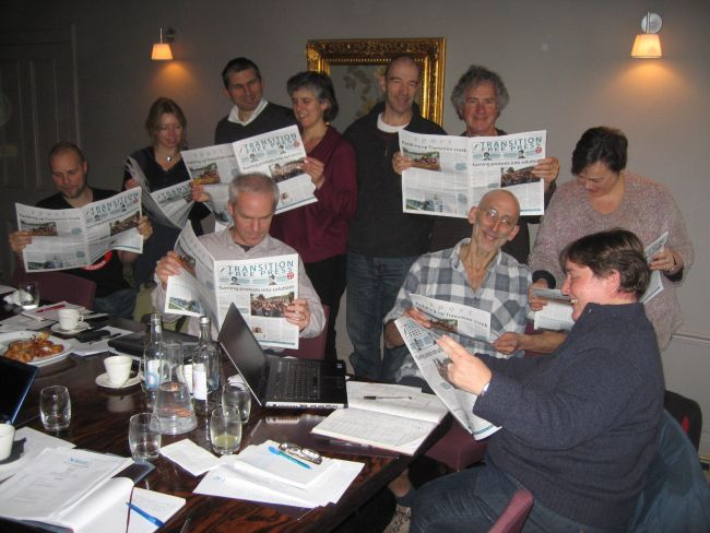 The board of Transition Network get stuck into the latest TFP.