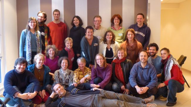 Transition Training in Belgium.  The author reclining at the front.
