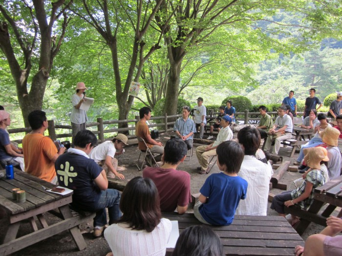 A Fishbowl process being run by a Japanese Transition initiative.