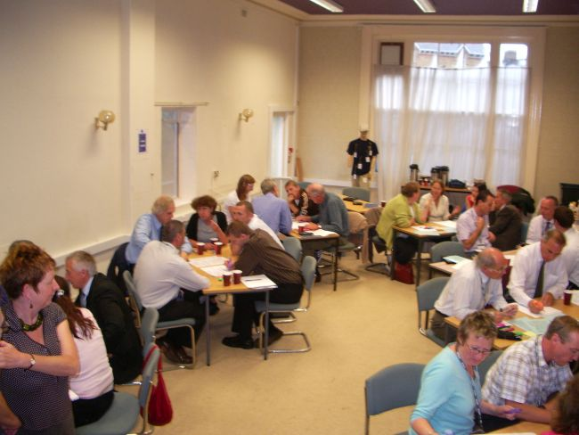 A Transition Taunton visioning workshop with every member of Taunton Deane Council (Chrissie, bottom left)