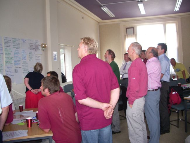 Examining the visions being generated at workshop with Taunton Deane Council.