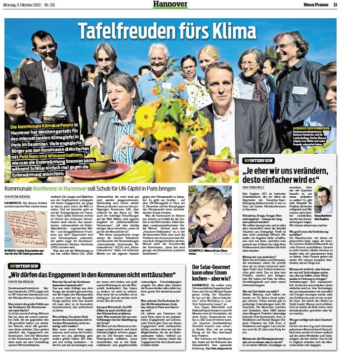 From the local paper: with Stefan Wenzel, Barbara Hendricks, Dr. Thomas Köhler and others launching the REconomy food business.
