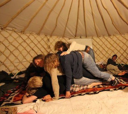 Fun, co-operative game play at the PDC in the fantastic newly built yurt.