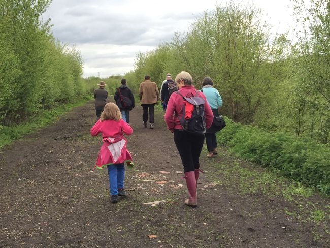 The group head out onto Lindow Moss.
