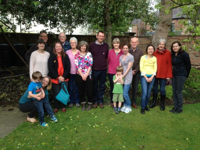 With some of the Transition Wilmslow group.