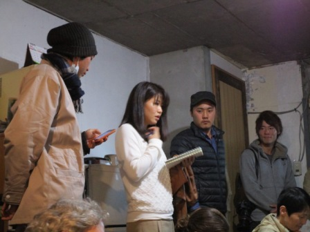 young activists from Osaka in their reclaimed building