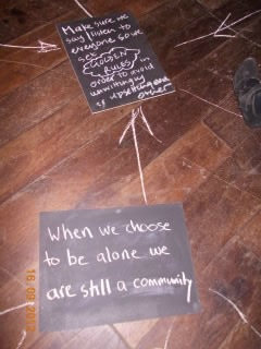 When we choose to be alone we are still a community